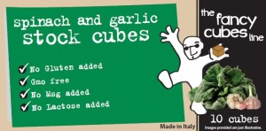 Spinach and garlic fancy cubes